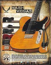The 2015 Dean Nash Vegas Series guitars ad 8 x 11 advertisement print