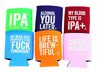 Thirsty Merchants Funny 6 pack Stubby Holder/ Beer Coolie/ Soft Insulated Sleeve