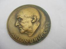 Anton Bruckner Medaille, Wien, In Memorian Oktober 1946 massiv Bronze oder Messi