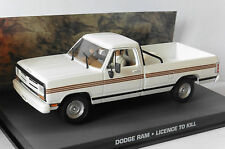 DIORAMA DODGE RAM LICENCE TO KILL JAMES BOND 007 UNIVERSAL HOBBIES 1/43 FABBRI