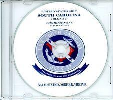 USS South Carolina DLGN 37 Commissioning Program 1975 on CD Navy Plank Owners