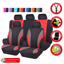 Universal Car Seat Covers Black Red For Women Girls Fit Truck SUV Honda Nissan