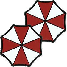 2x PVC Morale Patch Umbrella Corp Logo 3D Badge Hook #17 Paintball