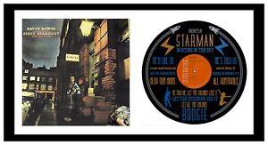 DAVID BOWIE - ART - VINYL RECORD with LYRIC ART + Album Cover - MEMORABILIA