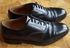 Hommes en Cuir Noir Loake Oxford Formel Business Chaussures Taille 8 UK