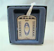 Wedgwood Blue/White Jasperware 2007 Our New Home Xmas Ornament New Nib Read