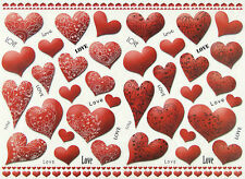 Rice paper -Red Hearts- for Decoupage Scrapbooking Sheets