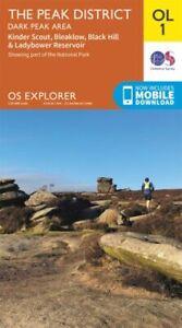 Peak District OL 1 Dark Peak Ordnance Survey Explorer Map OL1