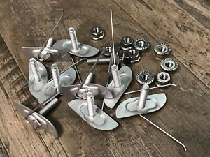 """10 pcs body door trim clips with nuts for 1"""" to 1-1/8"""" wide moulding ss fl nut"""