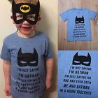 Summer Boy T-shirt Casual Short Sleeve Tee Tops Batman Print 2 3 4 5 6 7 Years