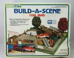 Vintage Life-Like Coal Yard #1369 Build-A-Scene - HO Scale - Open Box / Complete
