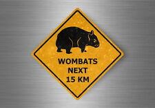 aufkleber sticker auto sign achtung australien straßenschild macbook wombats