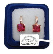 Orecchini da donna pl oro bianco 18K zirconi cristalli swarovski veri SW1 punto