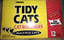 New listing Tidy Cats Cat Box Liners 15x18x5 X2 1 Box 12 New