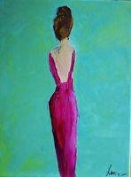 Impressionism Modern original painting on canvas 12x16 inches