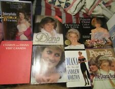 LOT OF 8 PRINCESS DIANA BOOKS- HER LIFE & HER LEGACY, UNFORGETTABLE WOMEN MUST S