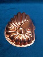 """Mini Copper Toned Jello Mold Kitchen Wall Hanging Nautilus Sea Shell 5"""" Inches"""