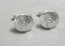 US Air Force 3/4 Inch Round Hap Arnold Insignia / Logo Cuff Link Set / Style B