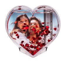 Glitter Herz mit roten Herzchen Geschenk Glitzerkugel Fotokugel