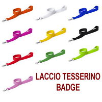LACCIO CORDA NASTRO BADGE TESSERINO EVENTI CARTELLINO CONCERTO CONFERENZE PASS