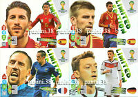 """RARE !! LIMITED EDITION Cartes """"BRASIL 2014 ADRENALYN"""" cards PANINI"""