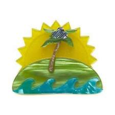 ERSTWILDER BROOCH - ISLAND IN THE SUN - TROPICAL PALM TREE. NEW IN BOX