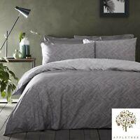 Appletree DENTON Grey Geomertic Luxury 100% Cotton Duvet Cover Set
