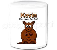 Personalised Gift Cute Kangaroo Money Box Safari Animal Piggy Bank Kids Present