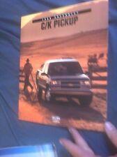 1998 Chevy Chevrolet C10 C20 C30 Silverado Pickups Brochure Catalog  Prospekt