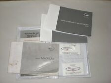 2002 NISSAN MAXIMA OWNERS MANUAL OEM ORIGINAL OWNER MANUAL