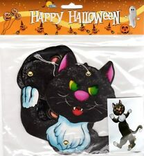 GATTO NERO DECORAZIONE HALLOWEEN SNODABILE CARTONCINO DA APPENDERE - black cat