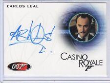 James Bond 50th Anniversary Carlos Leal auto card