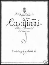 PUBBLICITA' 1926 CASA FINZI MILANO MODA CREAZIONE MODELLI FORNITORE REGINA SARTO
