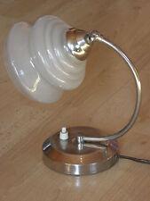 TABLE LAMP chrome SHADE vintage french ART DECO lamp Licht Bauhaus