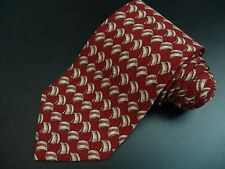 Valentino Tie Necktie Textured Power Red w/ Cream and Orange accents Italy NWOT