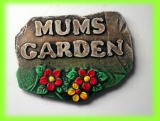 MUMS GARDEN sign.   Mothers gift  Mums shed.  Mums flowers. Mums Birthday