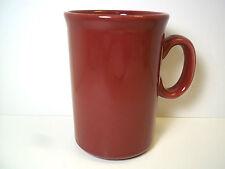 "Burgundy Maroon HG ceramic coffee mug  4.5"" tall 9 oz"