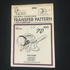 VTG Pretty Punch Hot Iron Transfer Pattern Embroidery PT2002 Sports Equipment