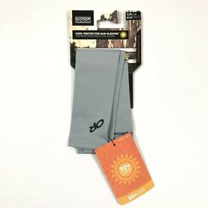 Outdoor Research Kids Protector Sun Sleeves UPF 50+ Gray Size S/M 5-9 Years