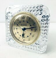 Vintage Bulova Quartz Clock Made West Germany Crystal Made In France Perfect