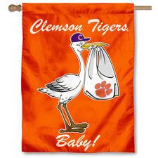 Clemson University New Baby Born Decorative House Flag
