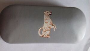 Begging sitting Labrador cute DOG brand new metal glasses case great gift!!