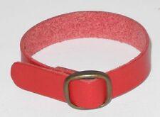 Original Steiff Zubehör roter Ledergürtel oder Halsband