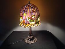 Tiffany Style Large Table Lamp Stained Glass Lotus Water Lily Shade