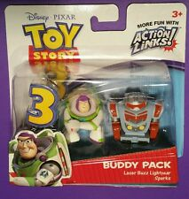 TOY STORY 3 buddy pack SPARKS + LASER BUZZ LIGHTYEAR sealed figure MISB robot