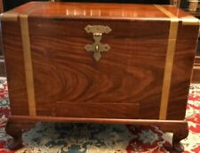 Vintage Trunck Chest - Solid Wood with Brass