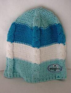 ADIDAS Blue Knitted Warm Winter Ski Hat Women's NEW NWT