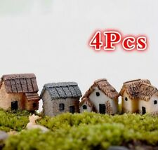 4pc fairy garden accessory house miniature figurine home decoration resin statue