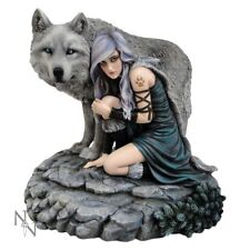 Protector By Anne Stokes - Limited Edition / Maiden - Wolf Figurine / Nemesis