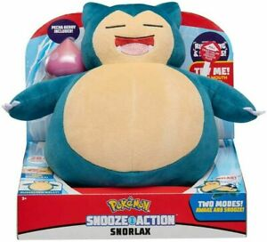 New Pokemon Snooze Action Plush Talking Snorlax